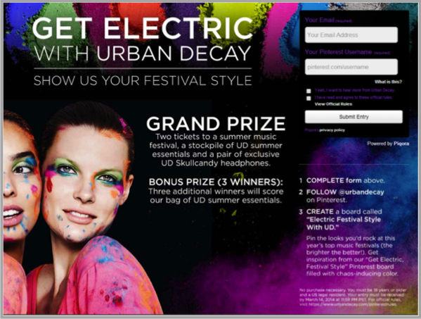 Urban Decay - example of best Facebook marketing campaigns