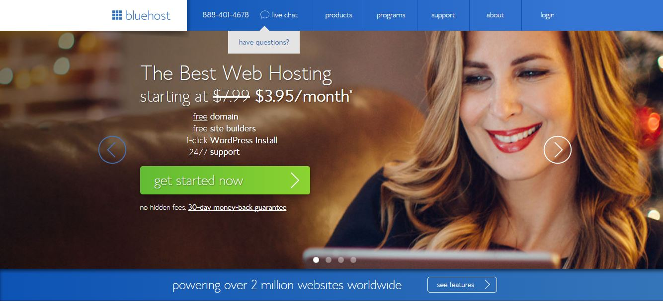 web host - to improve page speed