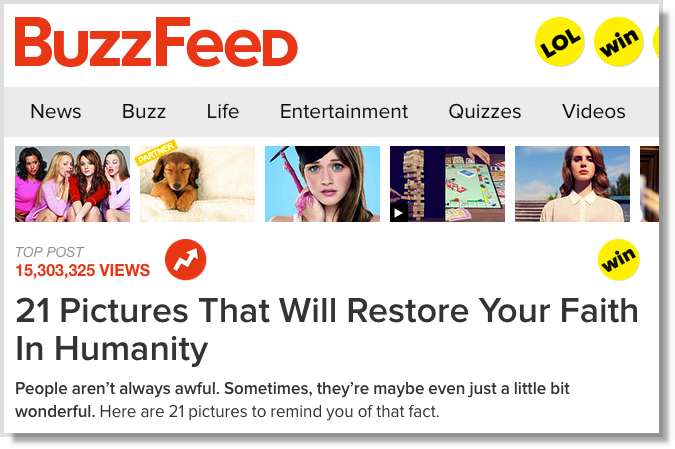 Stack images in content Buzzfeed