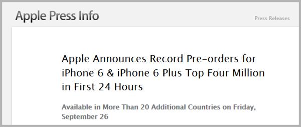 Apple Pre-Orders - Pre-Launch Buzz