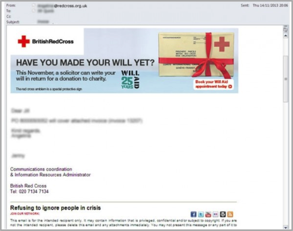 Email signature as example of a lead generation tactic