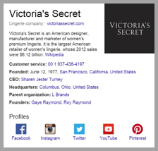 Victoria's secret example to optimize your social media posts for search engines 3