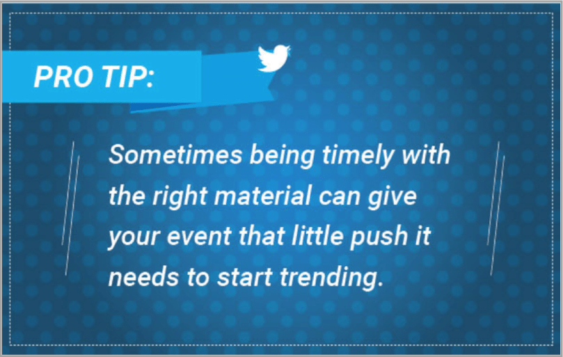 Pro tip 3 - Twitter event