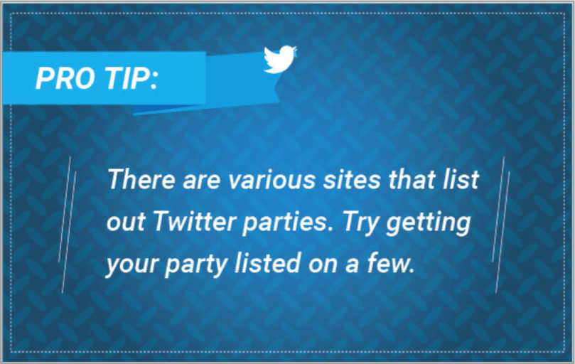 Pro tip 4 - Twitter event