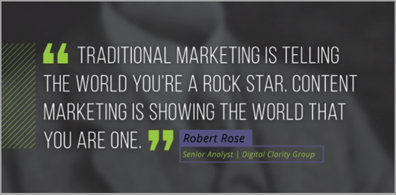 Robert rose quote - example of visuals to get more social shares