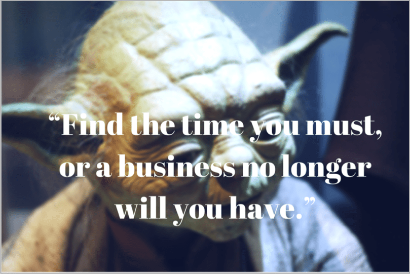 Yoda quote - grow your startup with social media