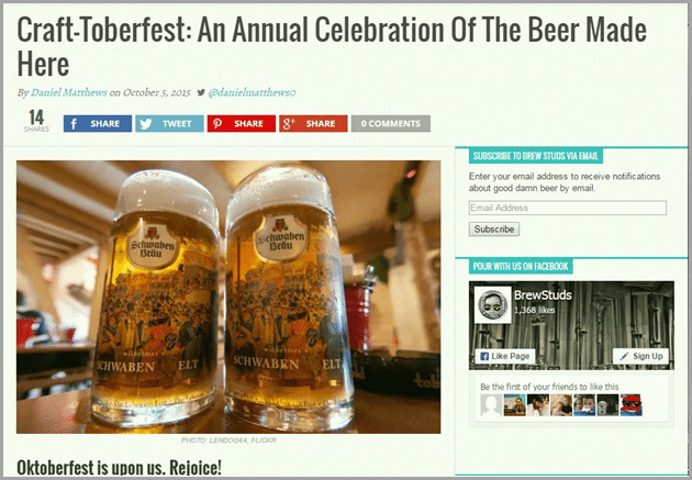 Craft-toberfest annual celebration of the beer for evergreen content