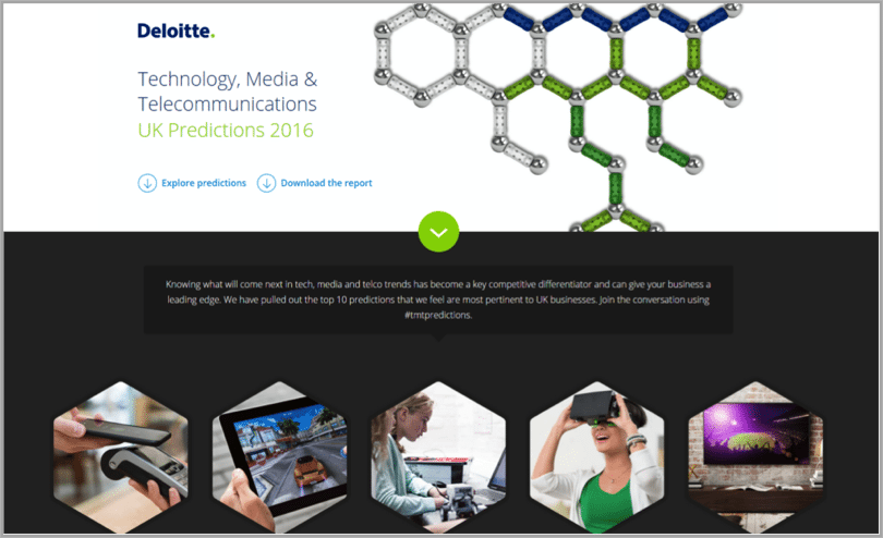 Deloitte example of interactive content