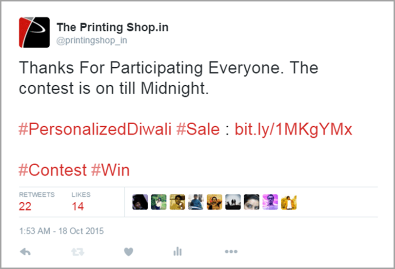 The Printing Shop end the contest image for get social media traffic