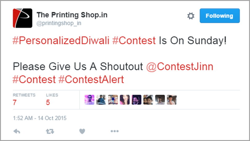 The Printing Shop promote your contest image 2 for get social media traffic