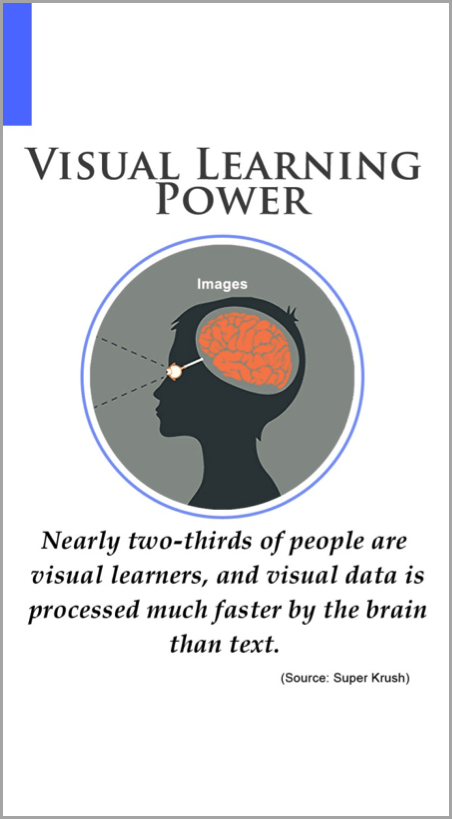 Visual learning image as example for driving traffic to your website