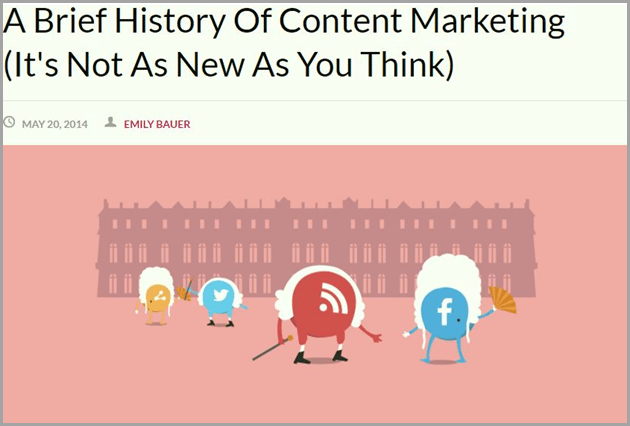 a brief history of content marketing for evergreen content