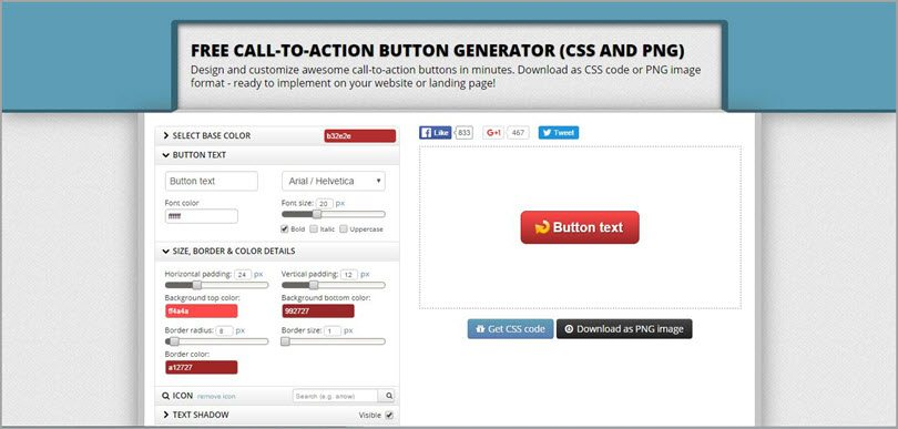 call-to-action button generator image for conversion rate