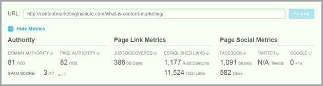 content marketing article at moz for evergreen content