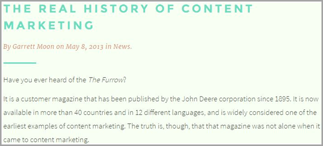 the real history of content marketing for evergreen content