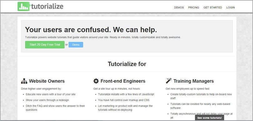 tutorialize website tutorials image for conversion rate