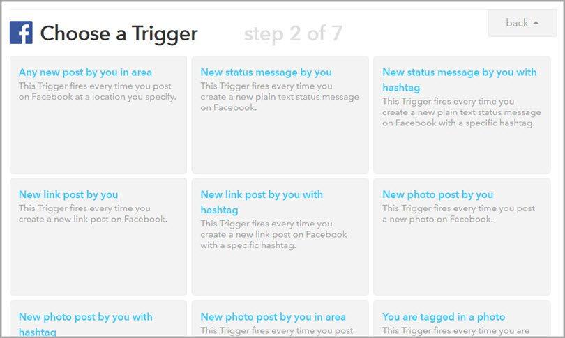 IFTT-facebook-trigger