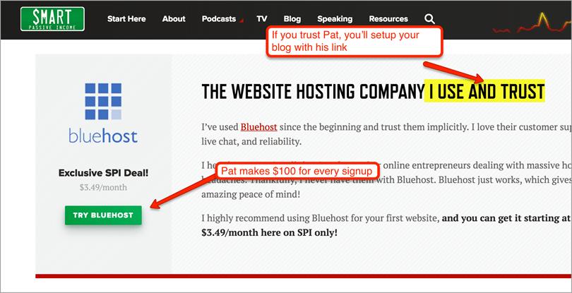 Patt Flynn bluehost web hosting for blog monetization strategies