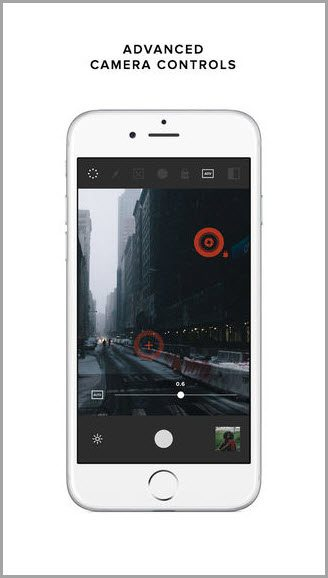 advanced camera controls for instagram apps