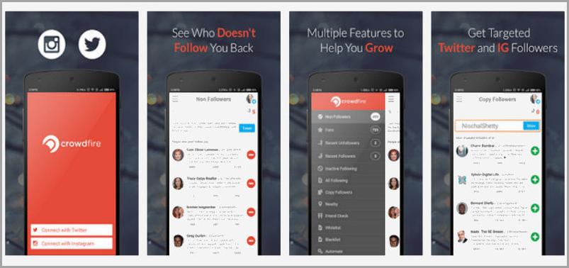 crowdfire audience management for instagram apps