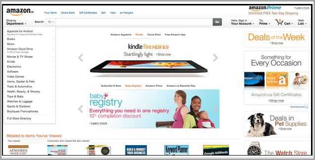 Amazon landing page 1 for landing page videos
