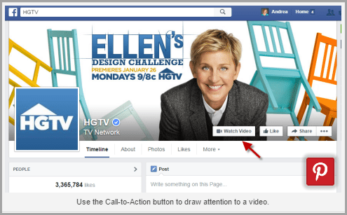Don't forget the call to action tab for video marketing on facebook