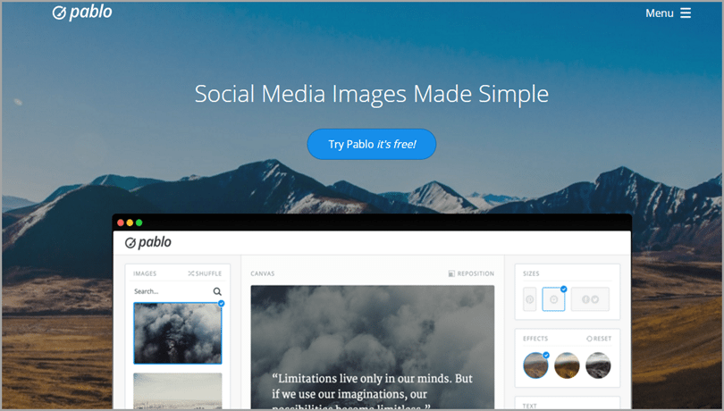 Pablo by buffer for imaging tools