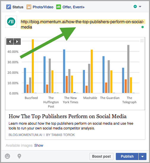 tips for description field for Facebook sponsored posts