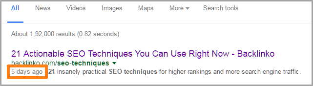 Google SERPs for SEO on your blog