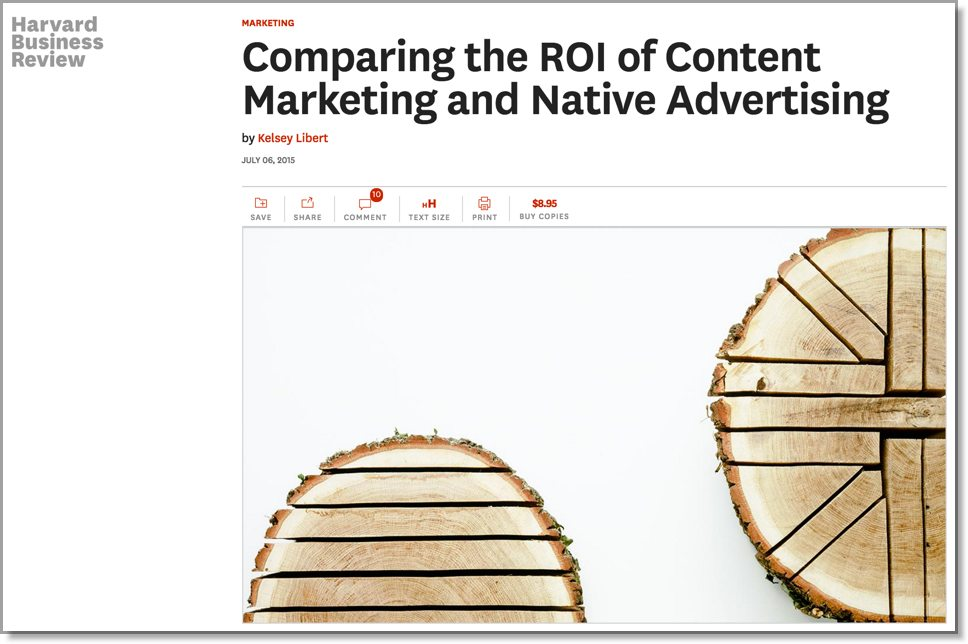 HBR Content marketing