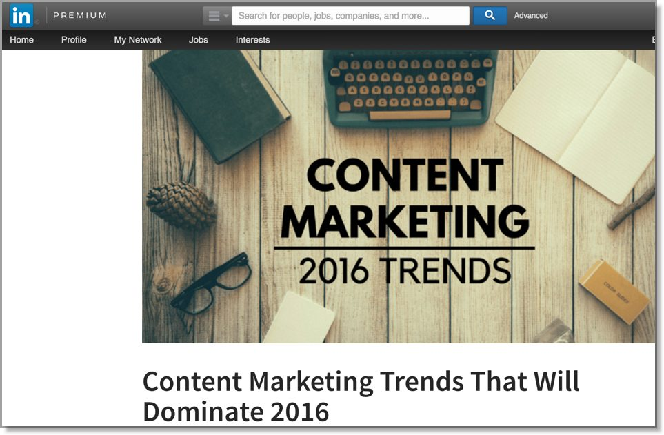Linkedin Content marketing trends