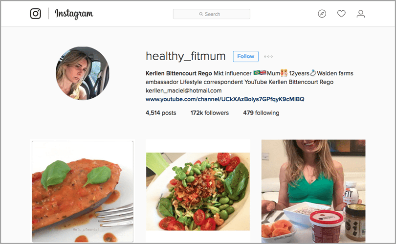 healthy fit mum for Instagram influencer marketing