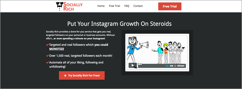 socially rich for Instagram Growth With Optimization