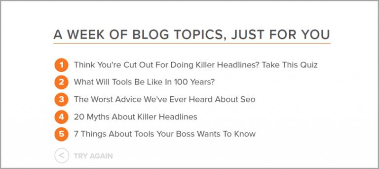 SEO Tool: Hubspot Blog Topic Generator