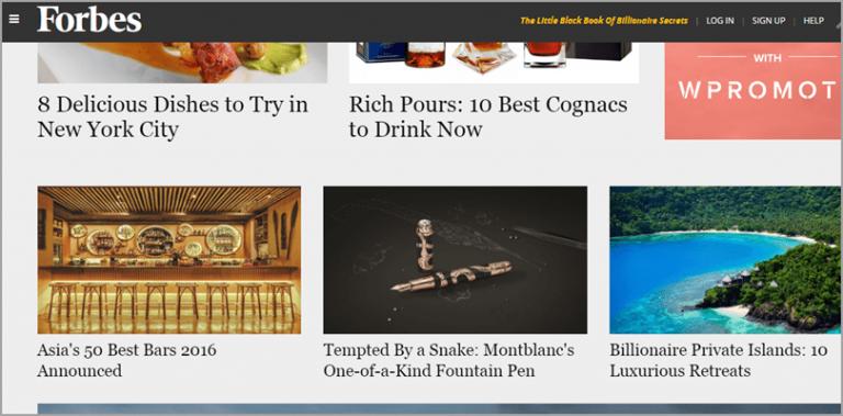 SEO Tool: Magazine Covers (Forbes)
