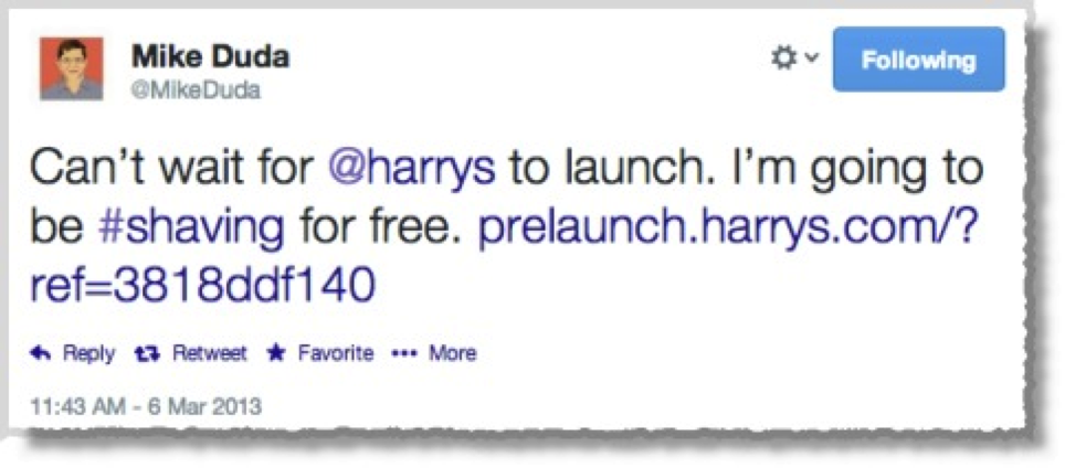 Harrys sharing