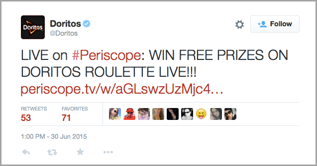 teasing exclusive product launch info for Periscope brand