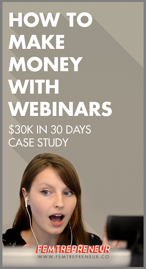 sell your idea in advance for webinars
