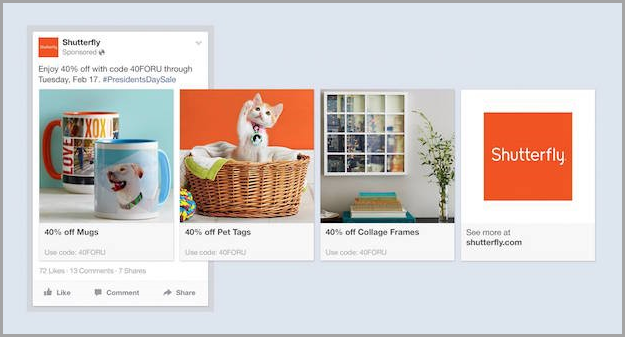 the bottom of the funnel for drive sales from Facebook