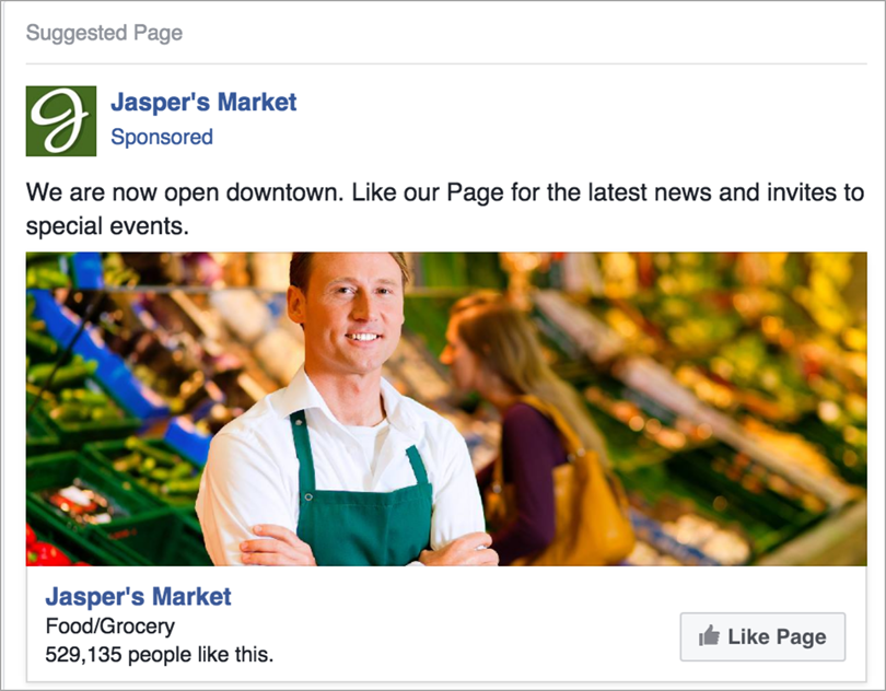 the top of the funnel for drive sales from Facebook