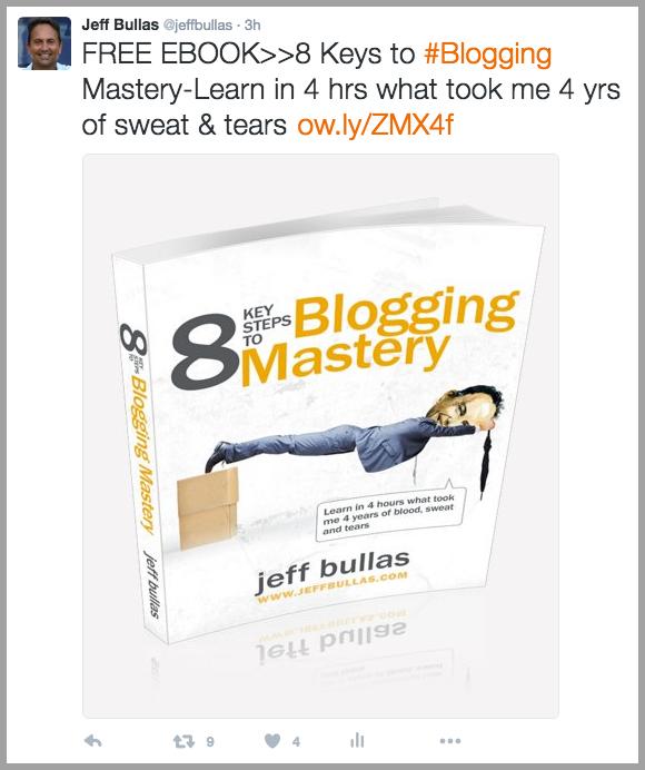 Blogging Tweet