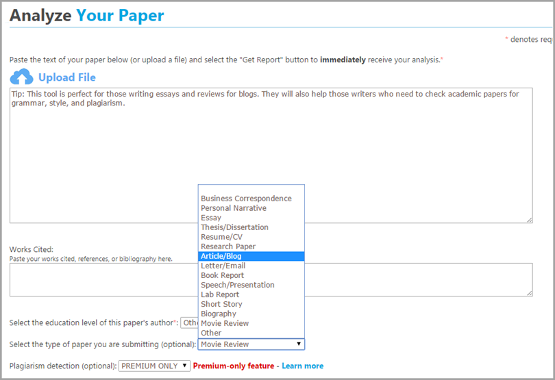 paper rater for blogging tools
