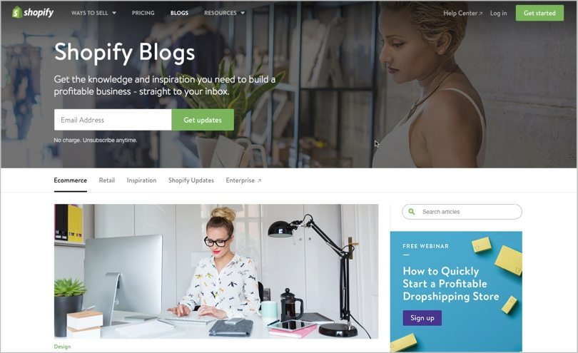 how to create a blog page in shopify