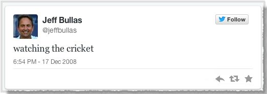Jeffs first tweet