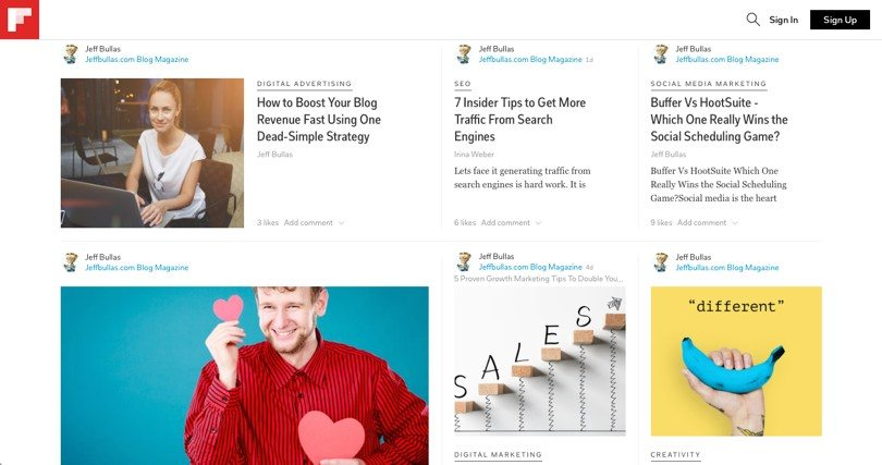 Flipboard for ways to drive targeted traffic