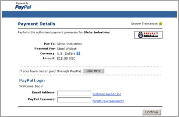 Paypal checkout page - Jeffbullas's Blog