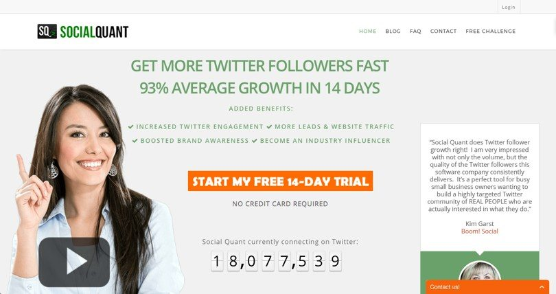 Social quant for ways to drive targeted traffic