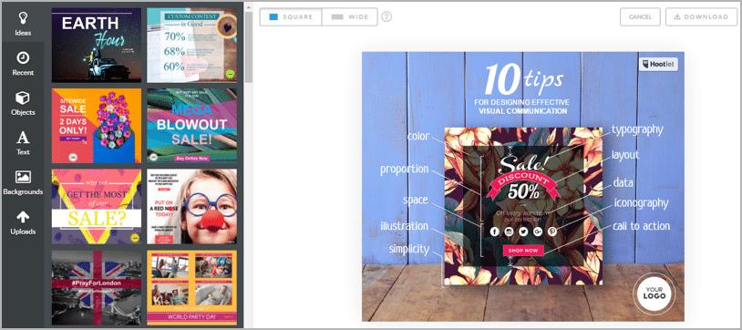 use promorepublic for visual social media management