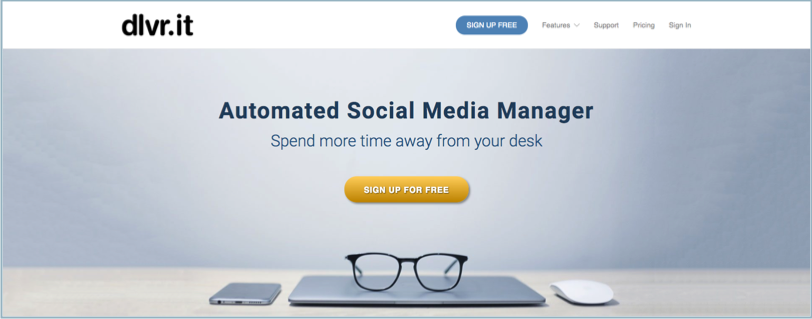 Social Media Management Tool Dlvrit