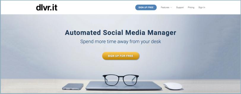 Social Media Management Tool Dlvrit